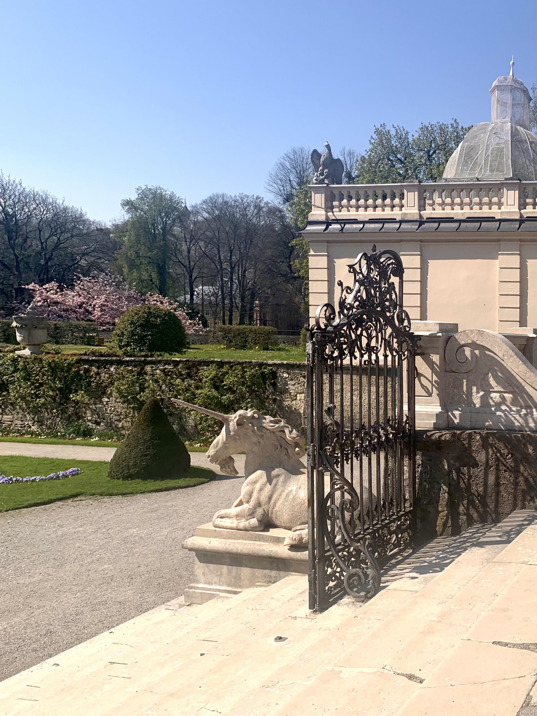 Unicorn at Salzburg Mirabell Gardens