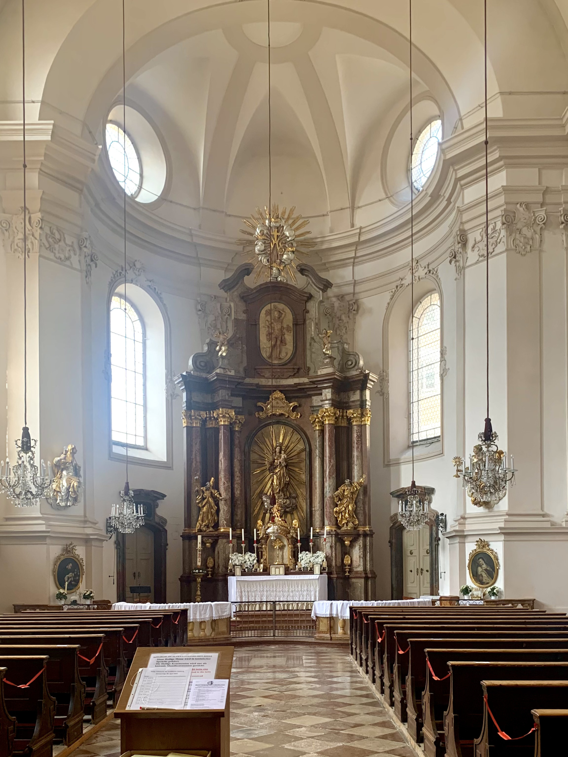 Salzburg´s Sebastians Church Interior