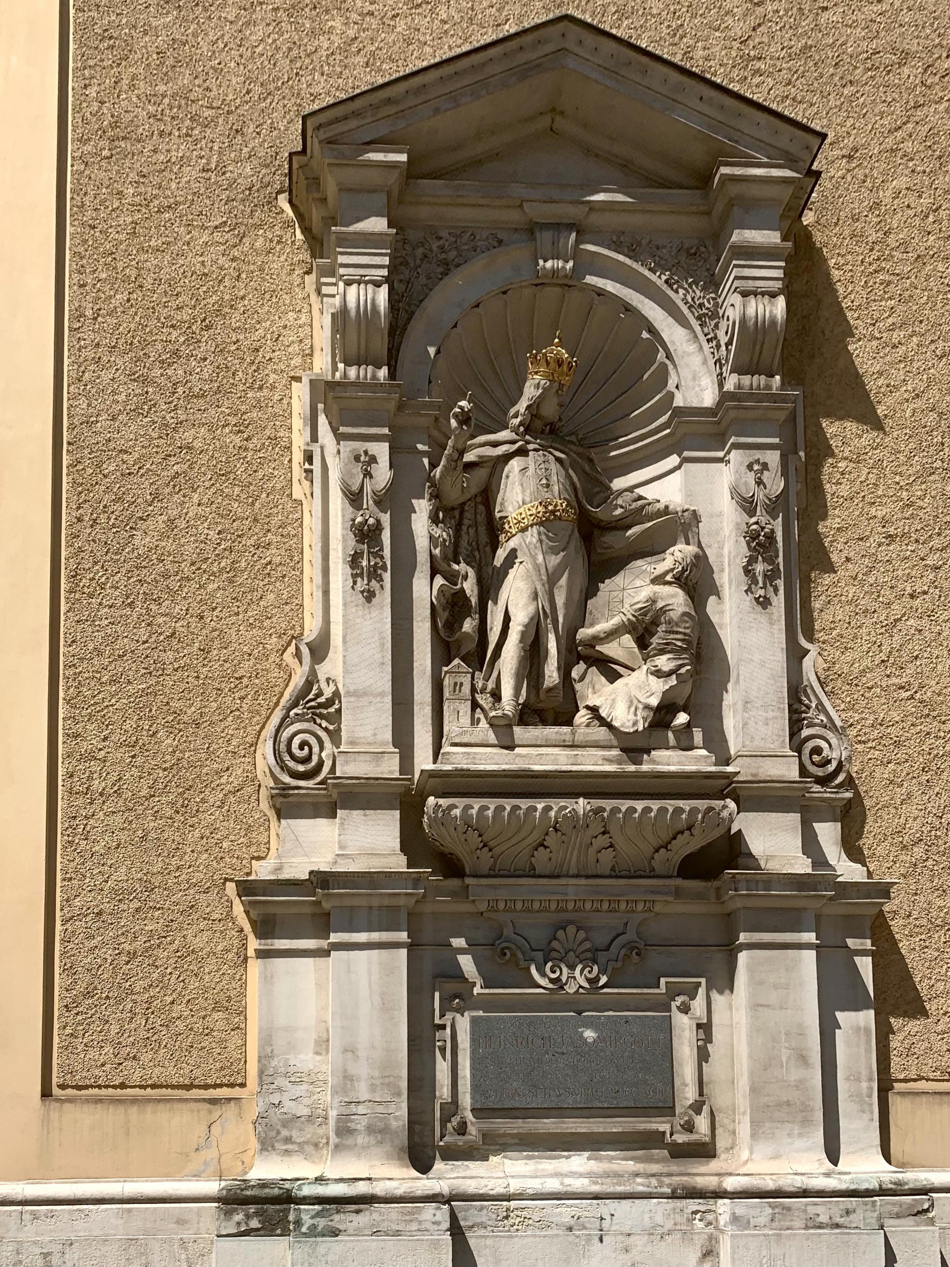 Herzog Heinrich II. am Schottenstift in Wien
