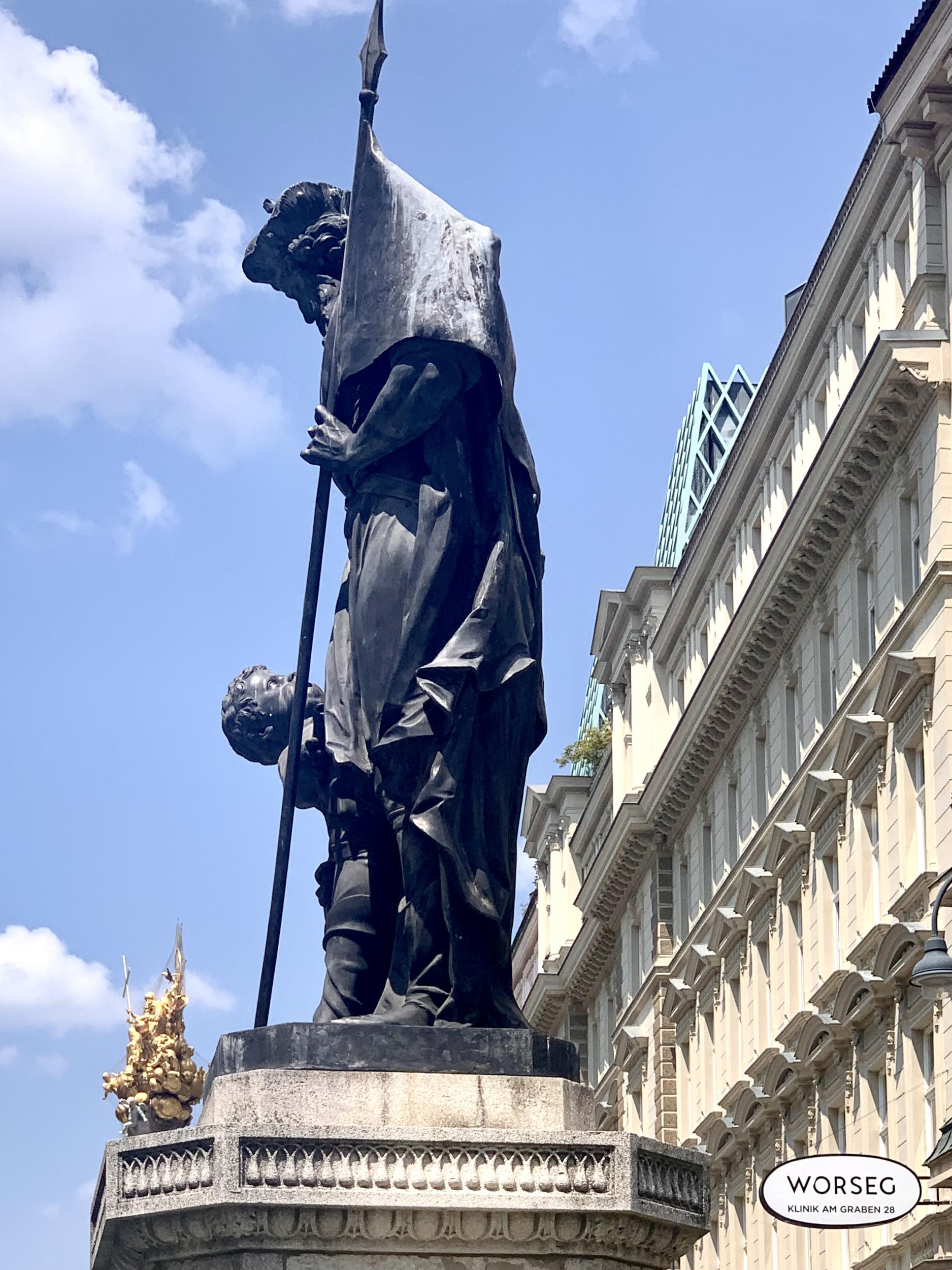 Holy Leopold Fountain on Graben in Vienna