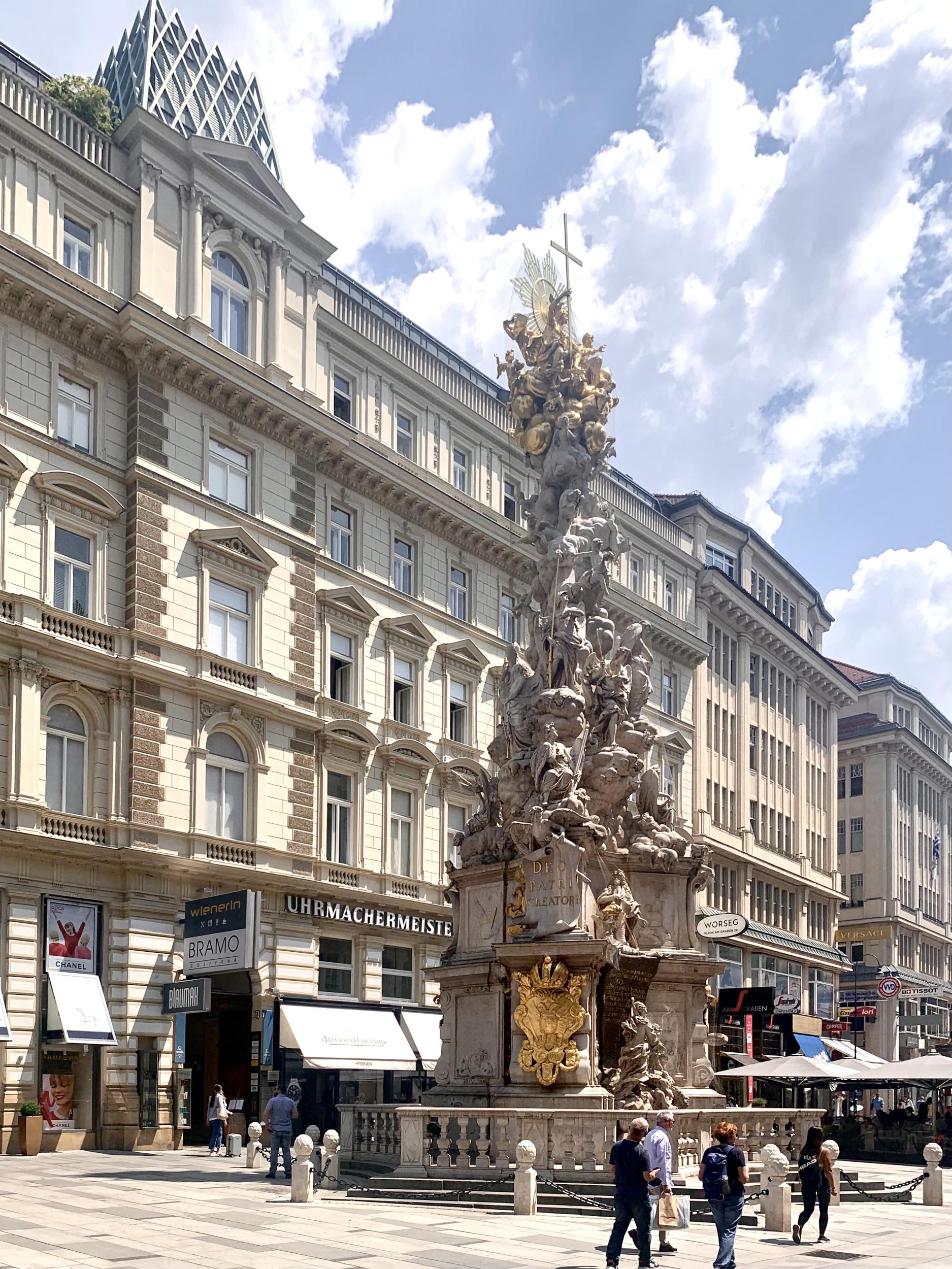 Holy Trinity Column on Graben in Vienna