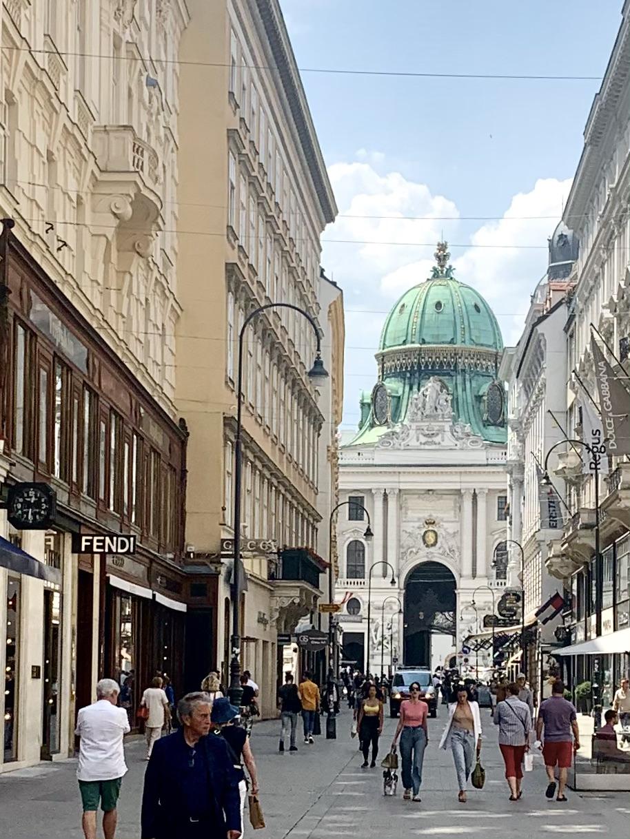 Kohlmarkt and Michael's Gate in Vienna