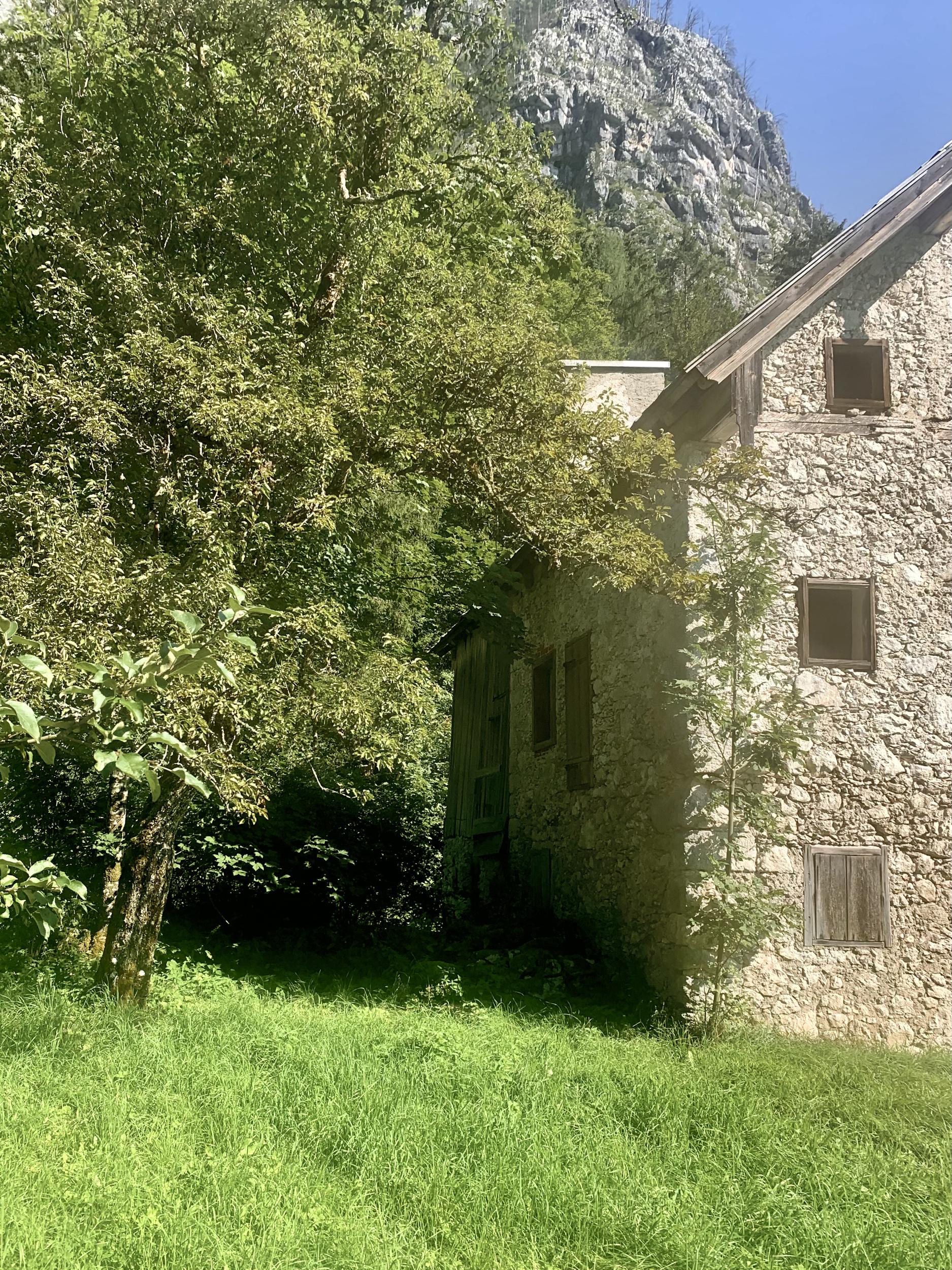 Old Stone House in Hallstatt on Echern Valley Path